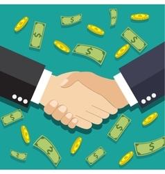 Businessmen handshake vector