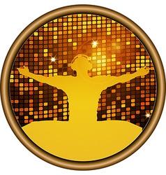 DJ Disco wall border vector image