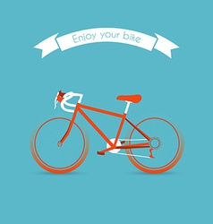 Engoy your bicycle image vector image vector image