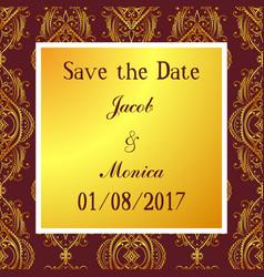 Invitation wedding colorful vector