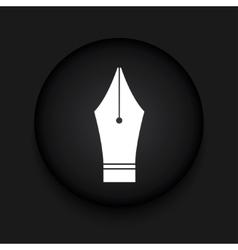 modern Fountain pen black circle icon vector image