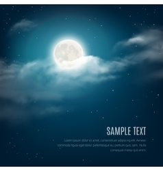 Night sky background cloudy sky with the shining vector image vector image