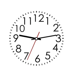 Round clock face with Arabic numerals vector image vector image