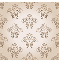 Seamless wallpaper curves vintage background vector