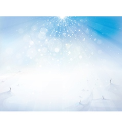 winter sky snow vector image vector image