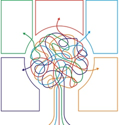 Concept of colorful tree with arrows vector image vector image
