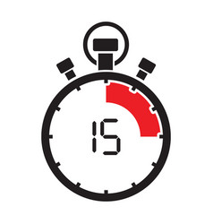 fifth teen minute stop watch countdown vector image vector image