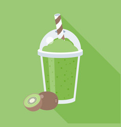 kiwi smoothie or juice vector image vector image