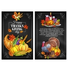 Thanksgiving day greeting holiday banners vector
