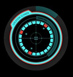 Alarm radar no danger vector image