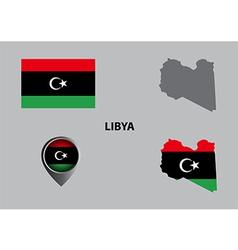 Map of Libya and symbol vector image