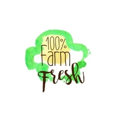 Percent Farm Fresh Products Promo Sign vector image