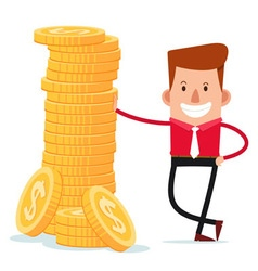 stack of coins vector image vector image