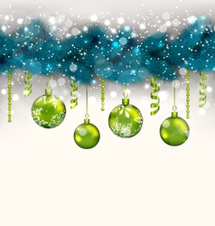 Traditional decoration with fir branches and glass vector