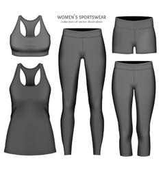 Women sportswear vector