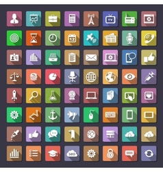 Big flat icons collection vector image vector image
