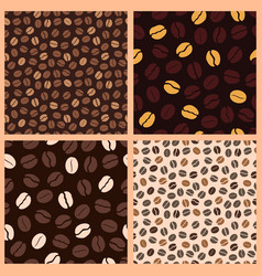 coffee pattern beans vector image vector image