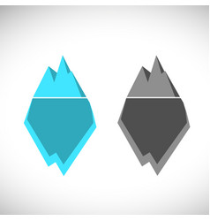 Ice berg icon ice berg logo colored vector