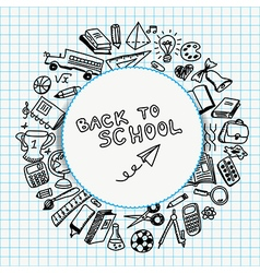 School supplies drawn vector image