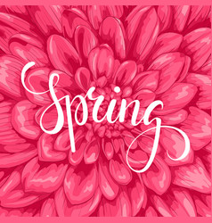 spring hand drawn calligraphy and brush pen vector image vector image