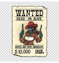 Steampunk female robot bandit wild west western vector