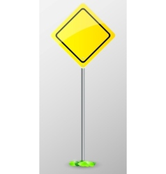 Yellow sign isolated vector image vector image