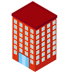 3d design for office building vector image