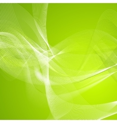 Abstract green wavy lines pattern vector image