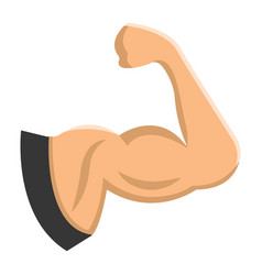 Arm muscle flat icon fitness and sport biceps vector