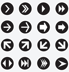 Arrow sign icon vector image