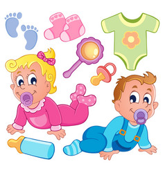 Babies theme collection 2 vector