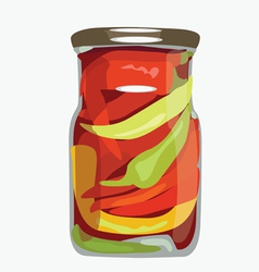 Bank of paprika vector