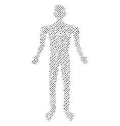 Barbed wire man figure vector