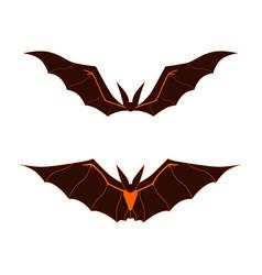 Bat dark logo happy halloween bat cartoon vector