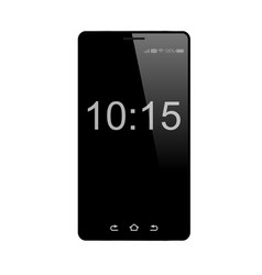 black mobile phone isolated on white vector image