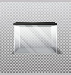 Blank vivarium or empty aquarium on transparent vector