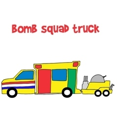 Bomb squad truck collection stock vector