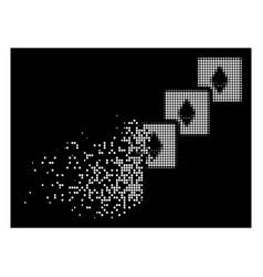 Bright broken pixel halftone ethereum blockchain vector