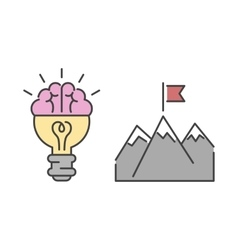Business success idea icon vector