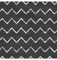 Chalk chevron blackboard seamless pattern vector