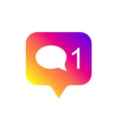 counter notification icon color gradient social vector image
