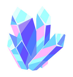 crystal or mineral vector image
