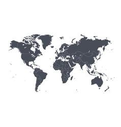 dark world map vector image