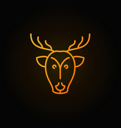 deer head yellow concept icon or logo vector image