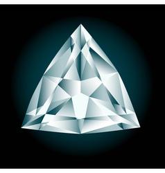 Diamond cut trilliant vector