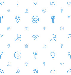 Direction icons pattern seamless white background vector