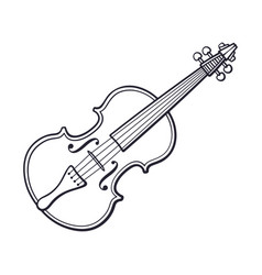 doodle classic violin without a bow vector image