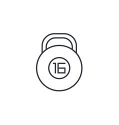 Dumbbell bob thin line icon linear symbol vector