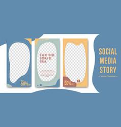 Editable instagram social media story in abstract vector