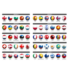 european soccer tournament qualifying draw 2020 vector image